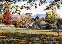 The Village Green - Westbury Tasmania - From the original by Joanne Mitchelson